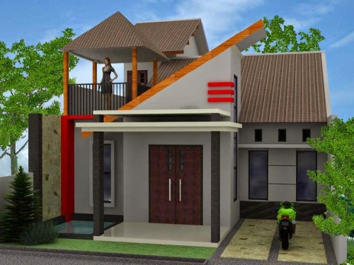Desain Rumah Minimalis Type 45 2 Lantai