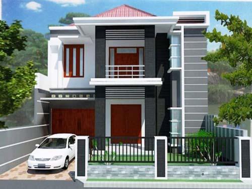 desain rumah minimalis modern sederhana 2 lantai