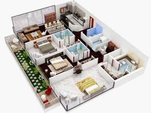 Contoh Desain Rumah Sederhana 3 Kamar Tidur Minimalis 1 Lantai