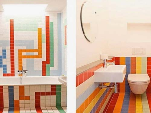 gambar desain kamar mandi minimalis unik